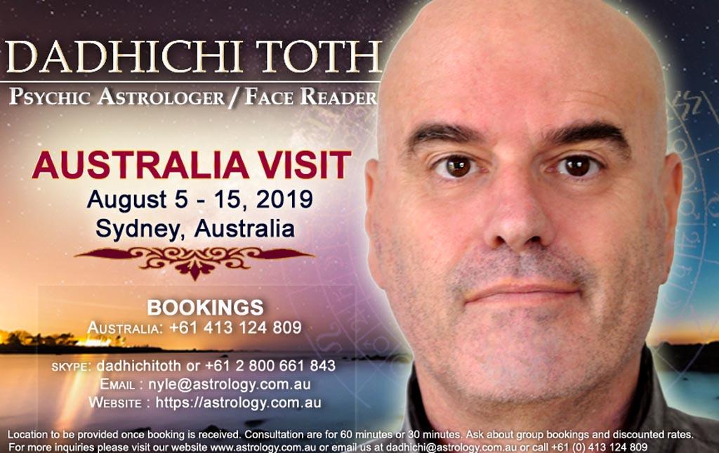 Dadhichi Toth Australia Visit August 2019 Schedule